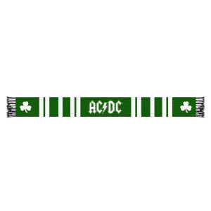 PRE-ORDER AC/DC Shamrock Scarf Green and White Stripes