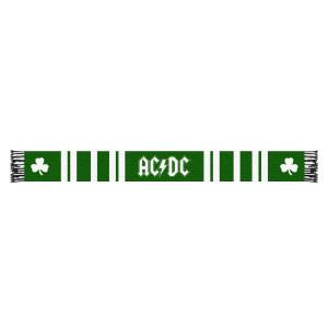 AC/DC Shamrock Scarf Green and White Stripes