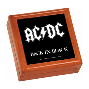 Back In Black Wooden Keepsake Box