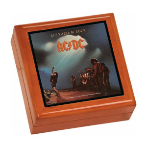 Let There Be Rock Wooden Keepsake Box