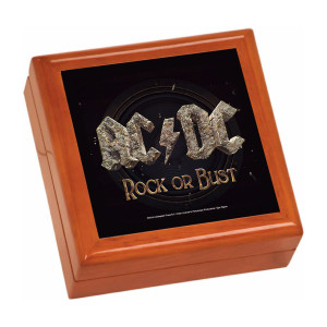 Rock Or Bust Wooden Keepsake Box
