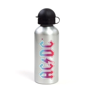 ACDC Silver Pink/Blue Logo Water bottle