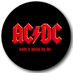 AC/DC Have A Drink On Me Round Coaster Set