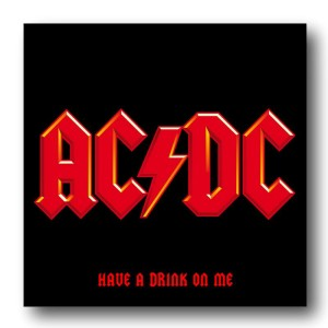 AC/DC Have A Drink On Me Square Coaster Set