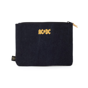 AC/DC Navy Zipper Pencil Case