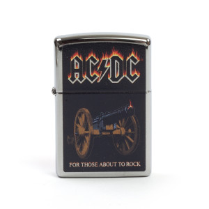 AC/DC For Those About To Rock Cannon Zippo Lighter