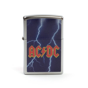 AC/DC Lightning Bolt Night Sky Zippo Lighter