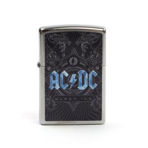 AC/DC Black Ice Blue Logo Zippo Lighter