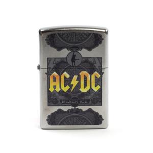 AC/DC Black Ice Yellow Logo Zippo Lighter