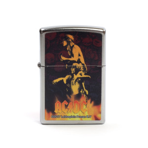 AC/DC Band Photo Flames Zippo Lighter