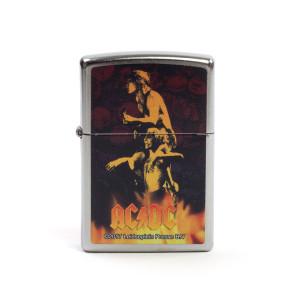 AC/DC Band Photo Flames Zippo Lighter