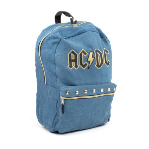 AC/DC Denim Studded Backpack