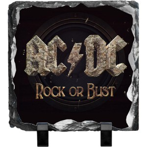 Rock Or Bust Photo Slate