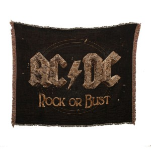 Rock Or Bust Throw Blanket