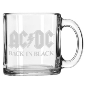 Back In Black Etched Mug