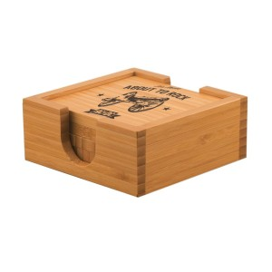 Rock Cannon Bamboo Coaster Set