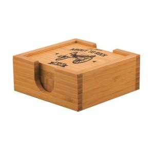 Rock Cannon Bamboo Coaster Set