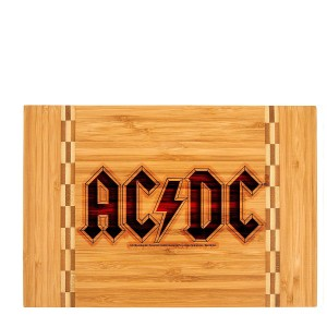 Logo Laser Engraved Cutting Board w/Butcher Block Inlay
