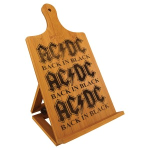 Back In Black Laser Engraved Cookbook Easel