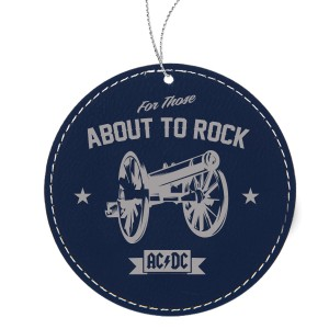 Rock Cannon Leatherette Ornament