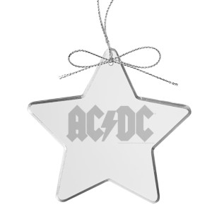 Logo Star Laser-Etched Glass Ornament