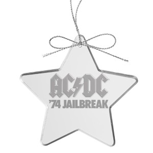 Jailbreak Star Laser-Etched Glass Ornament