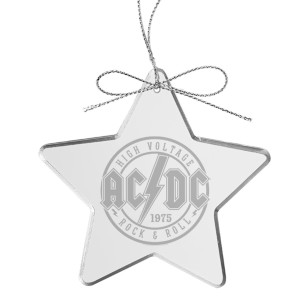 High Voltage Rock & Roll Laser-Etched Glass Ornament