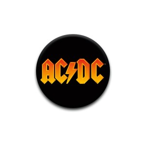 AC/DC Orange Logo Pin