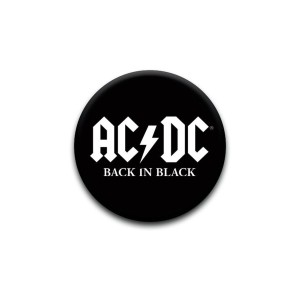 AC/DC Back in Black Pin