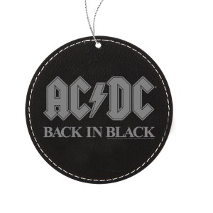 Back In Black Leatherette Ornament