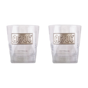 AC/DC Whiskey Glass Set in Collector's Box