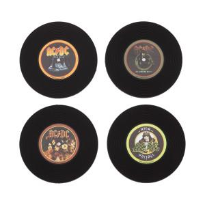 AC/DC Silicone LP Coaster Set
