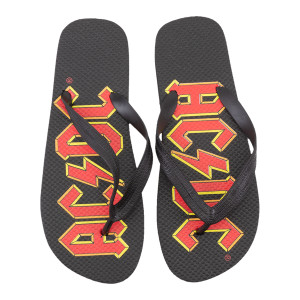 AC/DC Highway to Hell Logo Flip Flops