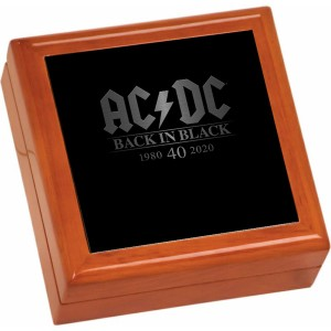 Back In Black 40th Anniversary Wooden Keepsake Box