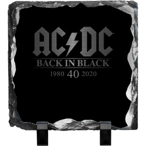 Back in Black 40th Anniversary Photo Slate