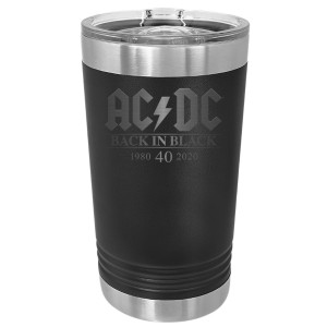AC/DC Back in Black 40th Anniversary Polar Camel Laser Engraved Pint