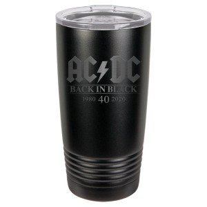 Back in Black 40th Anniversary Polar Camel Laser Engraved Tumbler