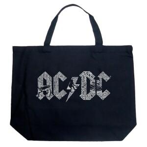 AC/DC LA Pop Art Black Large Tote Bag