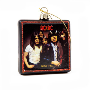 AC/DC Highway to Hell Glass Ornament