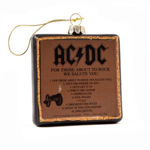 AC/DC Rock Cannon Glass Ornament