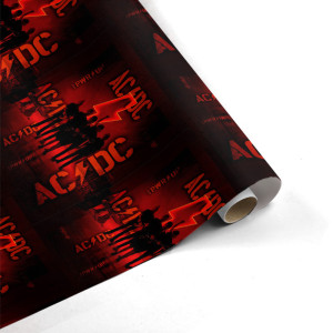 AC/DC Band Silhouette Wrapping Paper