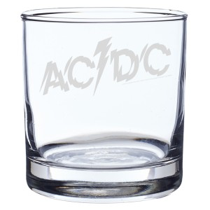 Powerage Log Laser-Etched Whiskey Glass