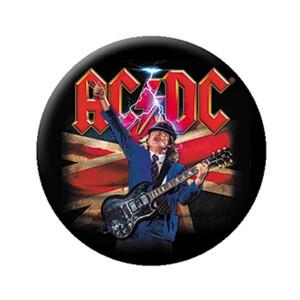 "AC/DC Angus British Flag 1.25"" Button"