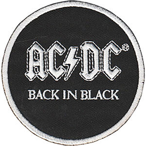 """AC/DC Back in Black 3"""" Round Patch"""