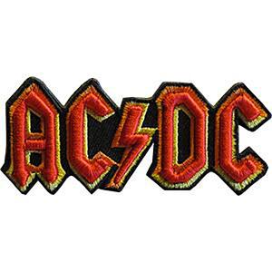 "AC/DC Logo 3.5""x1.5"" 3D Patch"