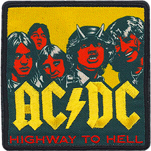 """AC/DC Highway To Hell Poster 3.5""""x3.5"""" Patch"""