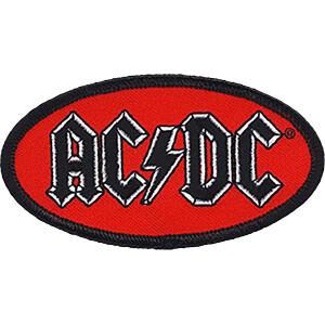 """AC/DC Oval Logo 3.8""""x2"""" Patch"""