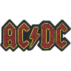 "AC/DC Logo 3.8""x1.75"" Glitter Patch"