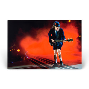 AC/DC Angus Orange Light Photo Print