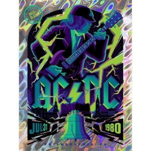 AC/DC JULY 31, 1980 PHILADELPHIA, PA POSTER MIDNIGHT LAVA FOIL VARIANT